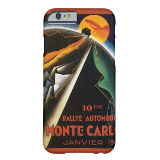 Vintage Travel Poster for Monte Carlo Auto Rally Barely There iPhone 6 Case