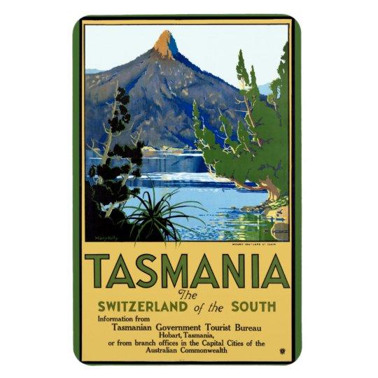 Vintage Travel Poster for Tasmania Rectangular Photo Magnet