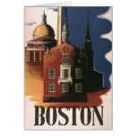 Vintage Travel Poster from Boston, Massachusetts Greeting Card