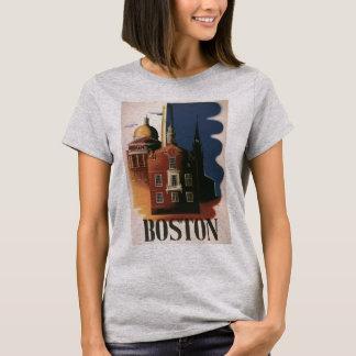 Vintage Travel Poster from Boston, Massachusetts T-Shirt