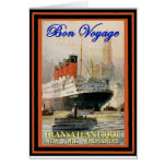 Vintage Travel Poster Greeting Card