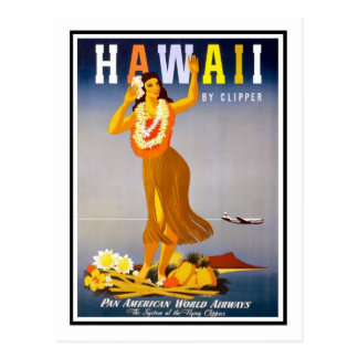 Vintage Travel Poster Hawaii Postcards