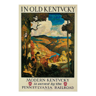 Vintage Travel Poster In Old Kentucky NC Wyeth