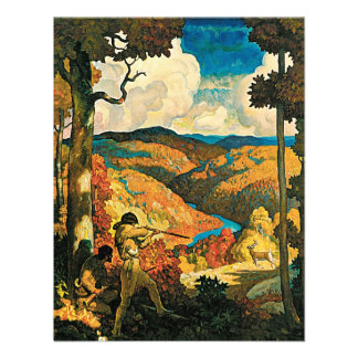 Vintage Travel Poster In Old Kentucky NC Wyeth Announcements