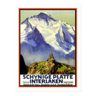 Vintage Travel Poster,Interlaken Postcard