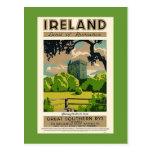 Vintage Travel Poster Ireland Blarney Castle