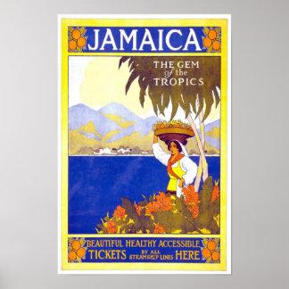 Vintage Travel Poster Jamaica Poster