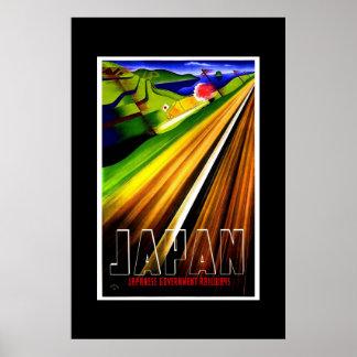 Vintage Travel Poster Japan Railways