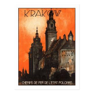 Vintage Travel Poster Krakow Post Cards