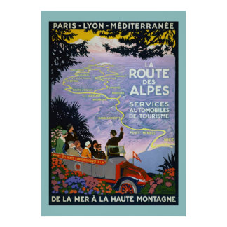 Vintage Travel Poster - La Route des Alpes