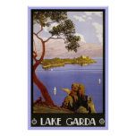Vintage Travel Poster Lake Garda Italy