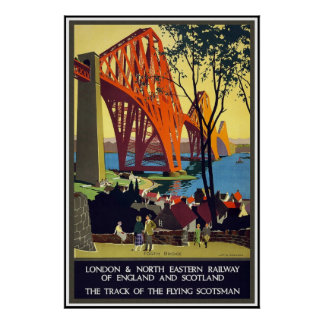 Vintage Travel Poster London Scotland