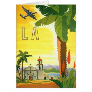 Vintage Travel Poster, Los Angeles, California Card