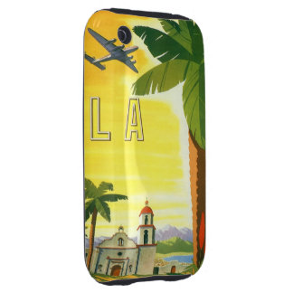 Vintage Travel Poster, Los Angeles, California iPhone 3 Tough Covers