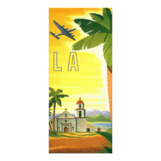 Vintage Travel Poster Los Angeles California Personalized Invitation