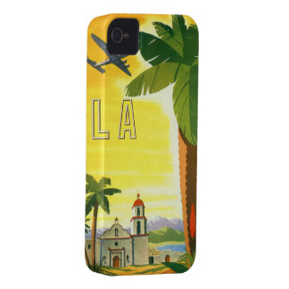 Vintage Travel Poster, Los Angeles, California iPhone 4 Case