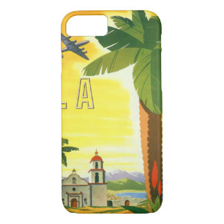 Vintage Travel Poster, Los Angeles, California iPhone 8/7 Case