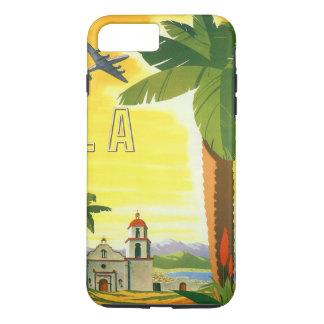 Vintage Travel Poster, Los Angeles, California iPhone 8 Plus/7 Plus Case