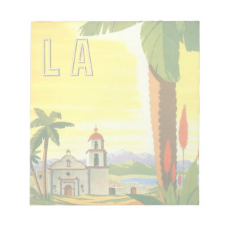 Vintage Travel Poster, Los Angeles, California Notepad