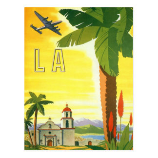 Vintage Travel Poster, Los Angeles, California Postcard