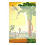 Vintage Travel Poster, Los Angeles, California Customized Stationery