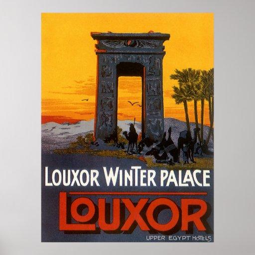 Vintage Travel Poster, Louxor Winter Palace, Egypt