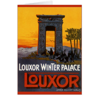 Vintage Travel Poster, Louxor Winter Palace, Egypt Card