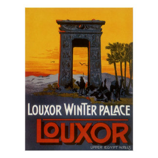 Vintage Travel Poster, Louxor Winter Palace, Egypt Poster