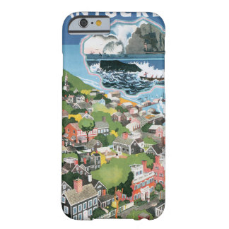Vintage Travel Poster, Map of Nantucket Island, MA Barely There iPhone 6 Case