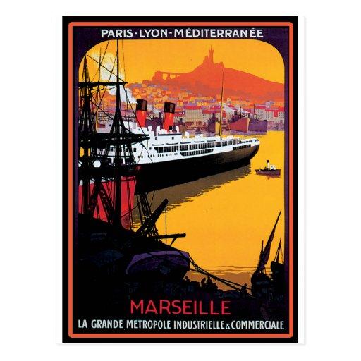 Vintage Travel Poster: Mediterranean Post Cards