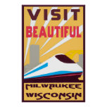 VINTAGE TRAVEL POSTER - MILWAUKEE, WISCONSIN