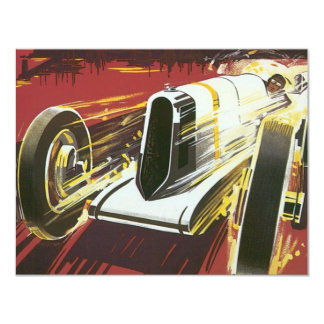 Vintage Travel Poster, Monaco Grand Prix Auto Race 11 Cm X 14 Cm Invitation Card