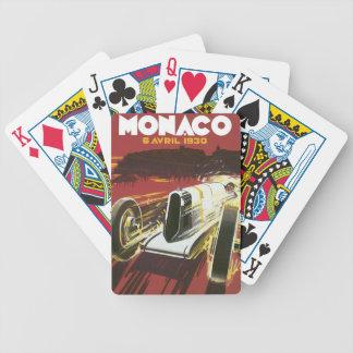 Vintage Travel Poster, Monaco Grand Prix Auto Race Poker Deck