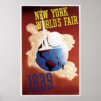 Vintage Travel poster New York World´s Fair
