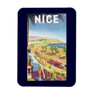 Vintage Travel Poster, Nice, France French Riviera Rectangular Photo Magnet