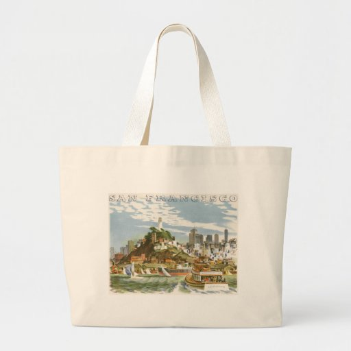 Vintage Travel Poster San Francisco Bay Ferry Boat Bags