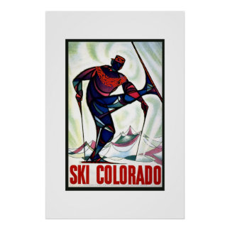 Vintage Travel Poster Ski Colorado