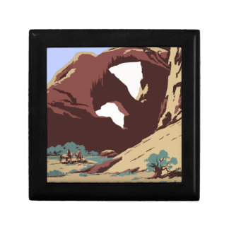 Vintage-Travel-Poster-Southwest-America-USA Small Square Gift Box