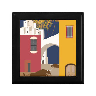 Vintage-Travel-Poster-Spain Small Square Gift Box