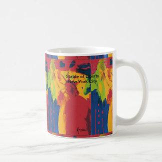 Vintage travel poster Statue of Liberty NYC mug