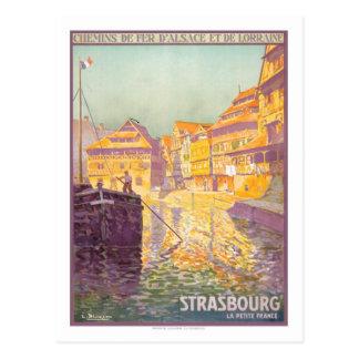 Vintage Travel Poster,Strasbourg Postcard