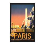 Vintage Travel Poster Stretched Canvas Prints