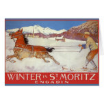 Vintage Travel Poster, Switzerland Christmas Card