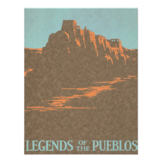 Vintage Travel Poster Taos New Mexico Custom Announcements