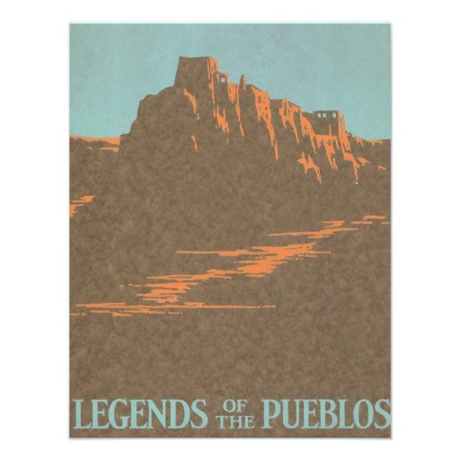 Vintage Travel Poster, Taos, New Mexico Custom Announcements