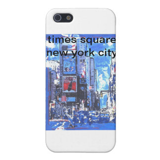 Vintage travel poster Times Square N Y City iPhone 5 Covers
