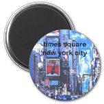 Vintage travel poster Times Square N Y City Refrigerator Magnet