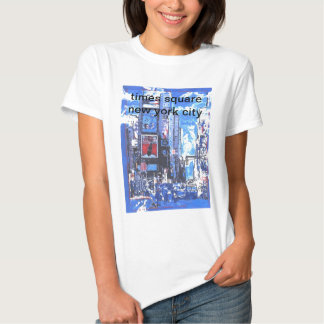 Vintage travel poster Times Square N Y City T-shirts