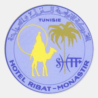 Vintage Travel Poster, Tunisia, Tunisie, Africa Classic Round Sticker