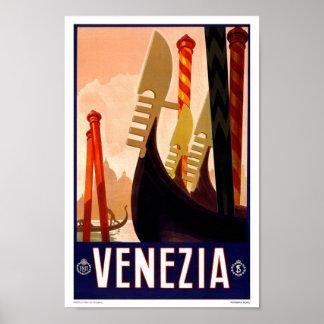 Vintage Travel Poster Venice